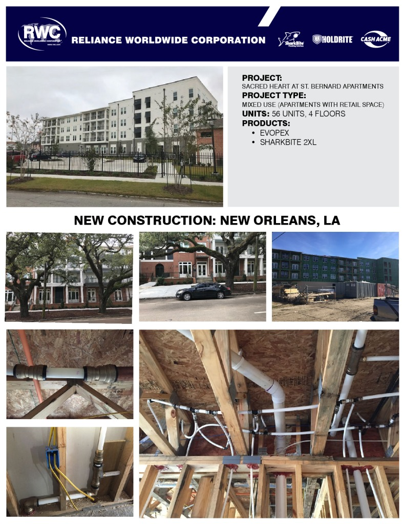 EvoPEX and SharkBite Universal – Multi Family-New Orleans